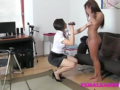 FemaleAgent HD Wet and excited in casting