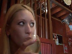 Squirting waitress