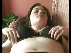 Horny Fat Chubby Ex GF love masturbating her Hairy Pussy
