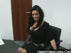 Lady Boss Gives A Subordinate Handjob