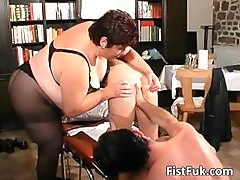 Redhead whore gets her anus f ...