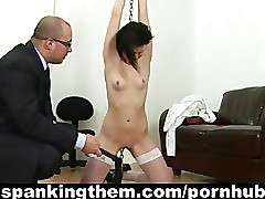 Sexy lazy secretary spanked by her boss