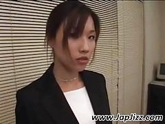 Asian Secretary Gives Pov Blowjob And Gets Fucked