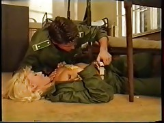 Very sexy Blond in the Army