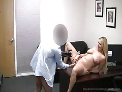 Interview With Lovely Blonde Girl Ends Up With A Sexual Game