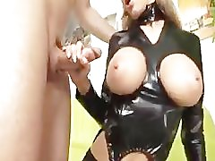 Mindy in Latex Takes Up in the Ass