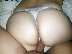 GRAY ART THONG!! BIG ASS!!