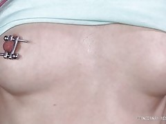 tied redhead chick receives pain and pleasure